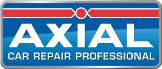De externe visuele identiteit van het merk Axial
